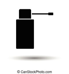 Inhalator icon. White background with shadow design. Vector...