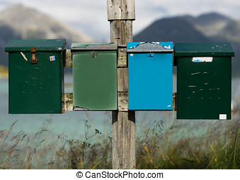 Norway mailboxes in detail background hd