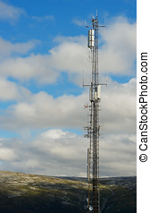 Vertical Norway meteorological tower background hd