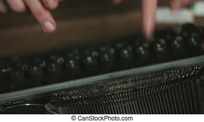 Close up of typewriter - Close up shot of old typewriter's...