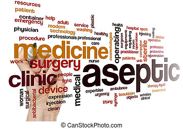 Aseptic word cloud concept