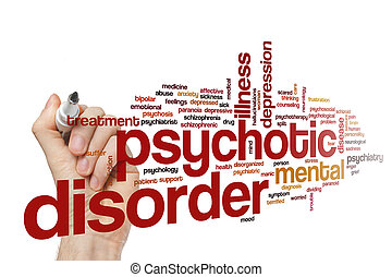 Psychotic disorder word cloud concept - Psychotic disorder...