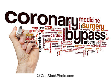 Coronary bypass word cloud concept