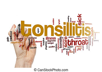Tonsillitis word cloud concept - Tonsillitis word cloud