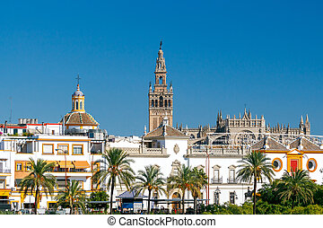 Sevilla. Tower Giralda. - Tower Giralda of the Cathedral in...