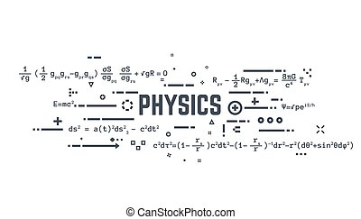 Physics line equations - Abstract science background banner....