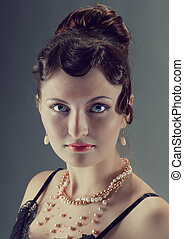 Woman retro revival portrait. - Woman retro revival portrait...