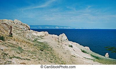 coast of Olkhon island, lake Baikal, Siberia, Russia