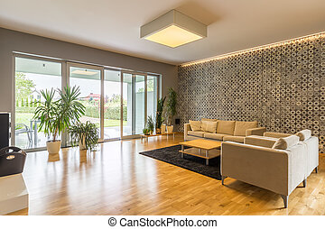 Big and spacious living room - Spacious living room with...