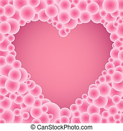 buble pink circles heart - The beautiful simple many buble...