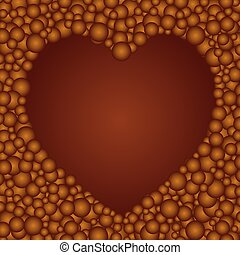 love to chocolate ball - The beautiful simple brown...