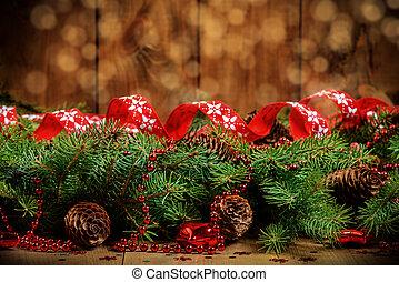 weihnachten background - Christmas Border - fir branches...