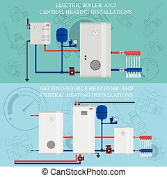 Gas boiler and central heating installations - Electric...