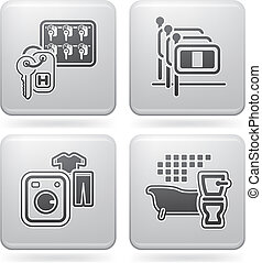 Hotel Related Icons - Various hotel icons: Lobby /...