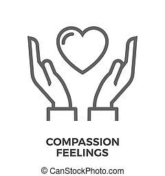 Compassion feelings icon - Compassion Feelings Thin Line...