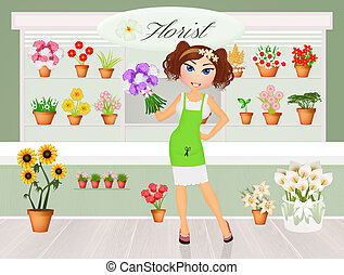 florist - illustration of florist