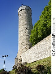 Tall Hermann - a tower of the Toompea Castle on Toompea...