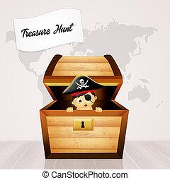 illustration of treasure hunt