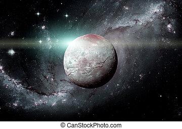 Enano, luna, planeta,  Charon, Plutón, más grande