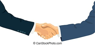 Handshake of business people on the world background