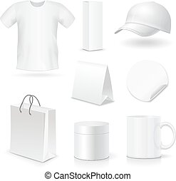 Blank business corporate identity templates, gifts