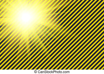 Shining warning black and yellow diagonal lines useful like...