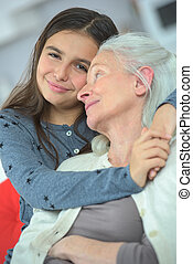 grandmother and granddaughter