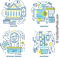 Banking Linear Concept