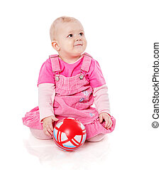 girl playing with ball