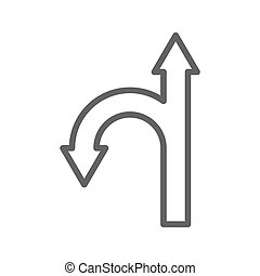 Directions line icon