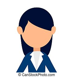 businesswoman character avatar icon