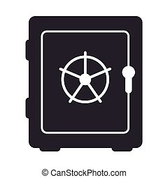 safe security box isolated icon vector illustration design