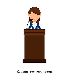 Conference pulpit isolated icon vector illustration design
