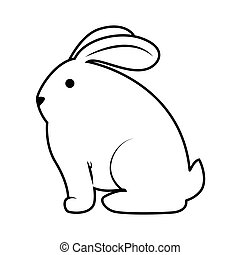 cute rabbit character isolated vector illustration design