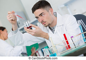 scientist working