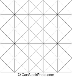Repeatable detailed grid, mesh pattern. (Black and white...