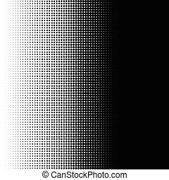 Vertical half tone pattern with dots - Monochrome halftone...