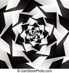 grayscale, Extracto, -, Espiral, Girar, Plano de fondo,...