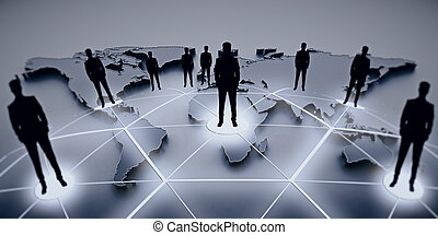 International business and partnership concept