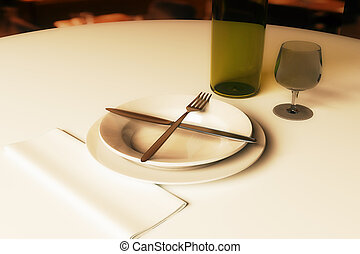 Restaurant rating and criticism concept - Close up of dining...