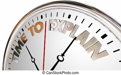 Time to Explain Teach Lesson Increase Understanding Clock 3d Illustration