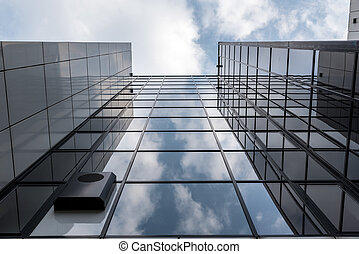 Tall glass office building