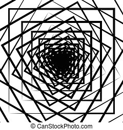 Ripple pattern with concentric squares - Circular geometric...