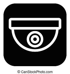 Icon with security camera / surveillance camera symbol