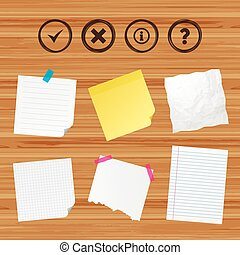 Information icons. Question FAQ symbol. - Business paper...