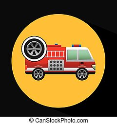 firetruck icon wheel design