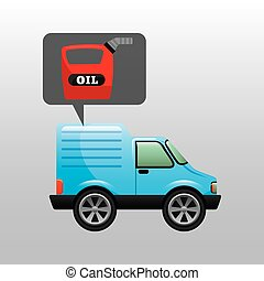 mini truck canister oil icon vector illustration eps 10