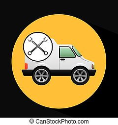 truck free delivery icon tool