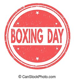 Boxing day sign or stamp - Boxing day grunge rubber stamp on...
