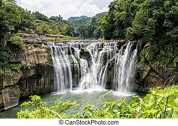 Shifen Waterfall - Beautiful Shifen waterfall,...